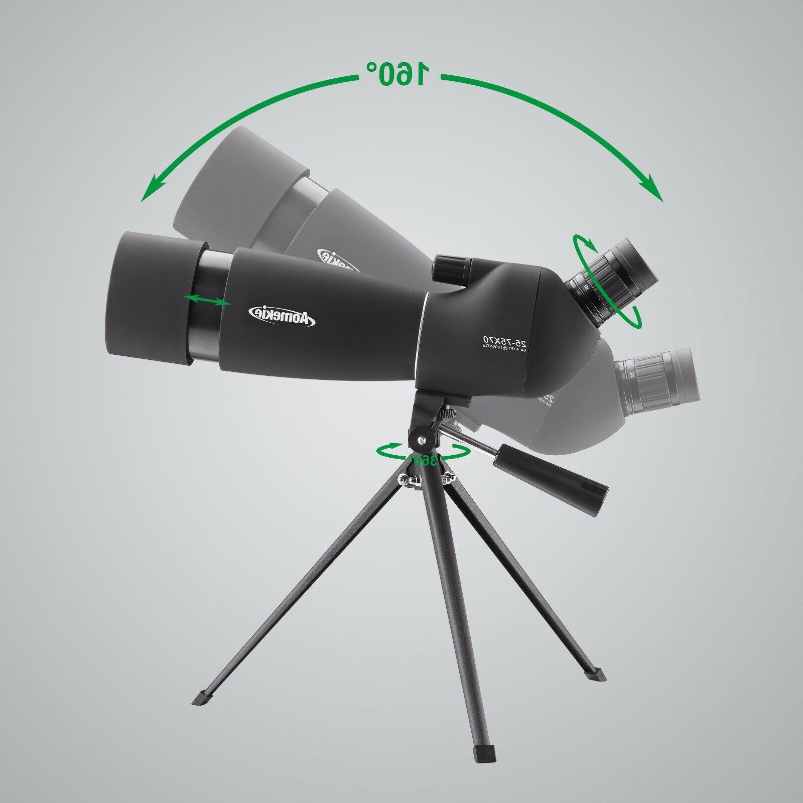Spotting Scope 25-75X70 Telescope With Adapter Target Shooting