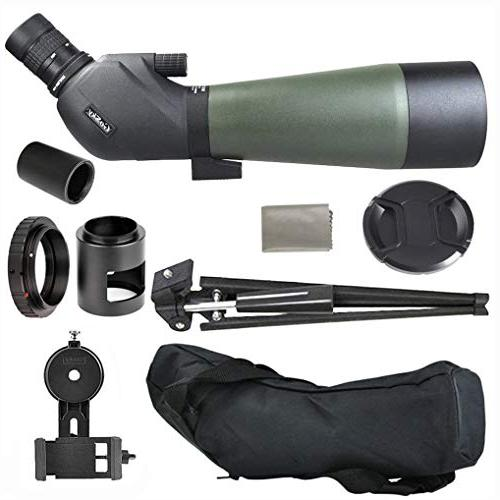 Gosky Spotting Tripod, Carrying Bag and Scope Photo BAK4 Angled Target Watching Wildlife