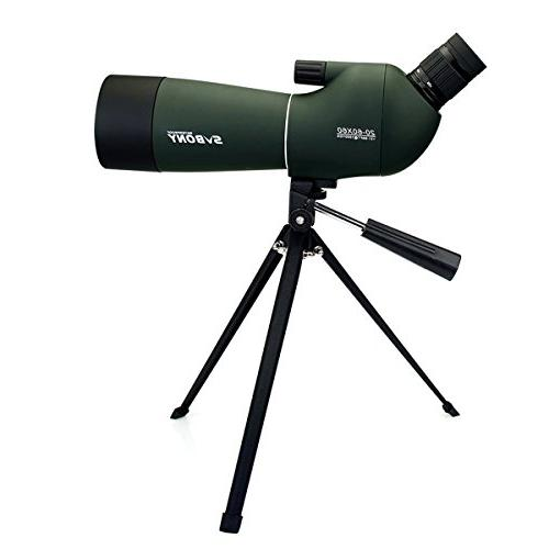 SVBONY SV28 Spotting Scope 20-60x60mm Bird Scopes Shooting Watching 45 Degree Angled Telescope Shooting Bak4 Prism Phone Adapter