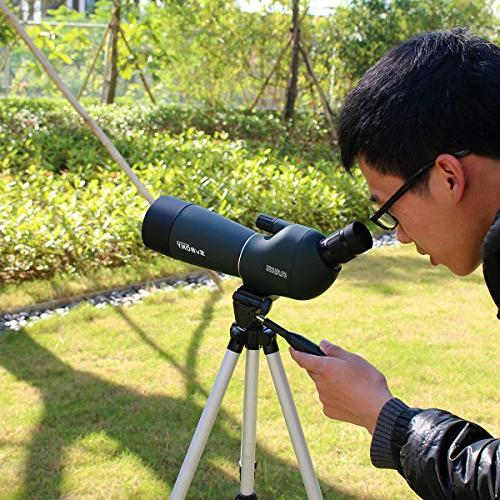 SVBONY Porro Spotting Scopes Shooting Bird Watching 45 Angled Telescope Hunting Bak4