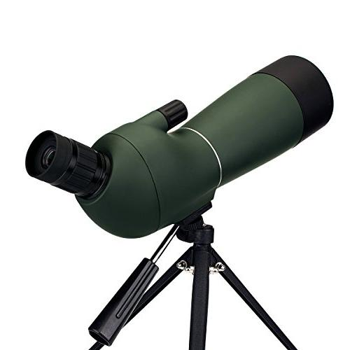 Spotting 20-60x60mm Scopes Shooting 45 Degree Telescope Bak4 Adapter