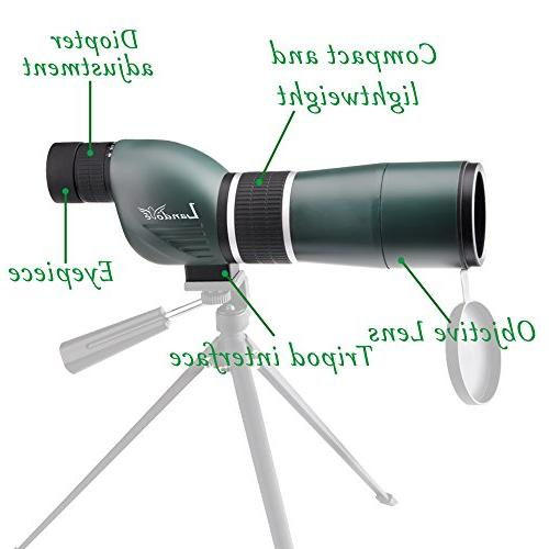 Landove 15-45x60 Straight Scope with Portable and Digiscoping