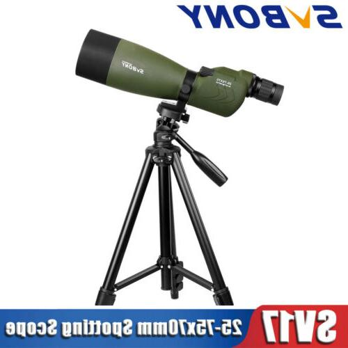 sv 25 75x70mm waterproof straight spotting scopes