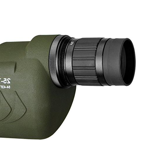 SVBONY 25-75x70mm Telescope Waterproof Straight for Bird Watching Target Archery with Carry
