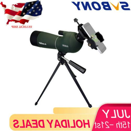SVBONY SV28 20-60x60mm Angled Zoom Spotting Scopes Waterproo