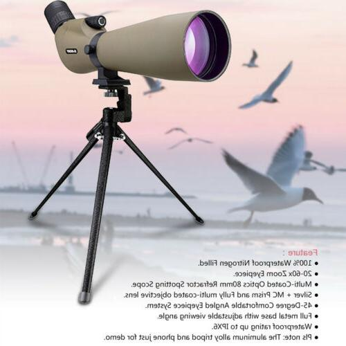 spotting scope sv401 20 60x80mm 45 waterproof