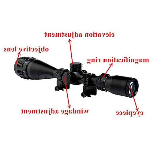 Sniper Red/Green/Blue Mil-Dot Illuminated Reticle Optical Optics Sports Hiking Hunting