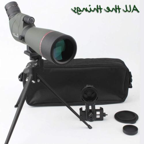 LANDOVE Prism Spotting Scope 20-60X65mm BAK4 Waterproof