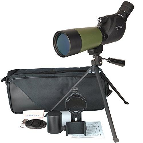 Gosky Waterproof Spotting Scope -BAK4 Angled Scope for Watching Target Archery Scenery - with Tripod and Digiscoping The
