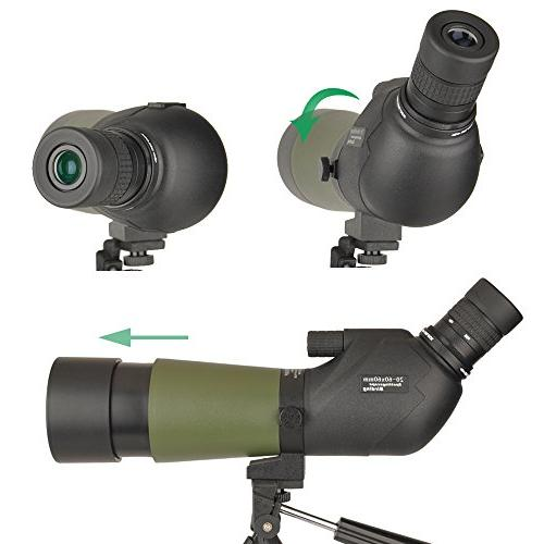 Gosky 20-60x60 Scope -BAK4 Angled Scope Bird Watching Target Scenery - Digiscoping The World into