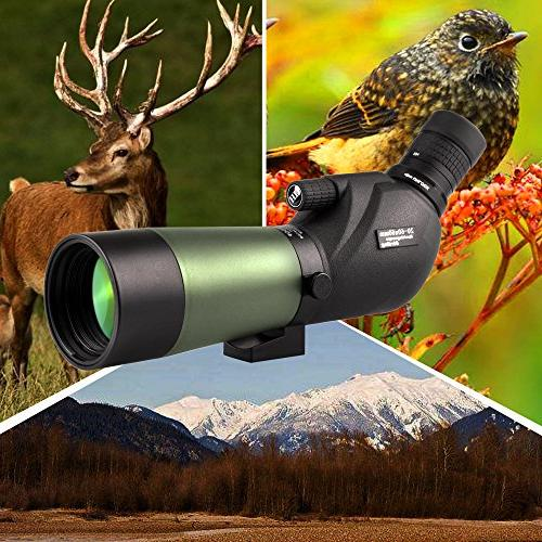 Gosky 20-60x60 Waterproof Spotting Scope Scope Bird Target Archery Scenery - with Tripod and Digiscoping The World