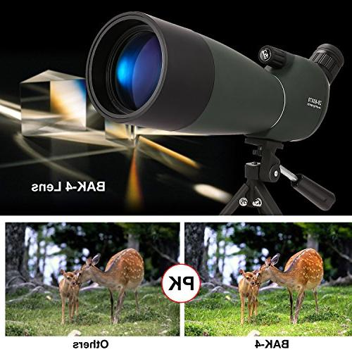 ANCHEER 20-60 x 70 Spotting Hunting, Target Shooting and Bird with Tripod & Digiscoping Adapter