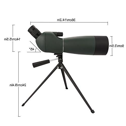 ANCHEER 20-60 x Hunting, Shooting and Bird Watching - with Tripod Adapter