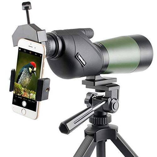 Gosky 20-60X60 Spotting Scope- Porro Prism Scope Bird Target Shooting Outdoor