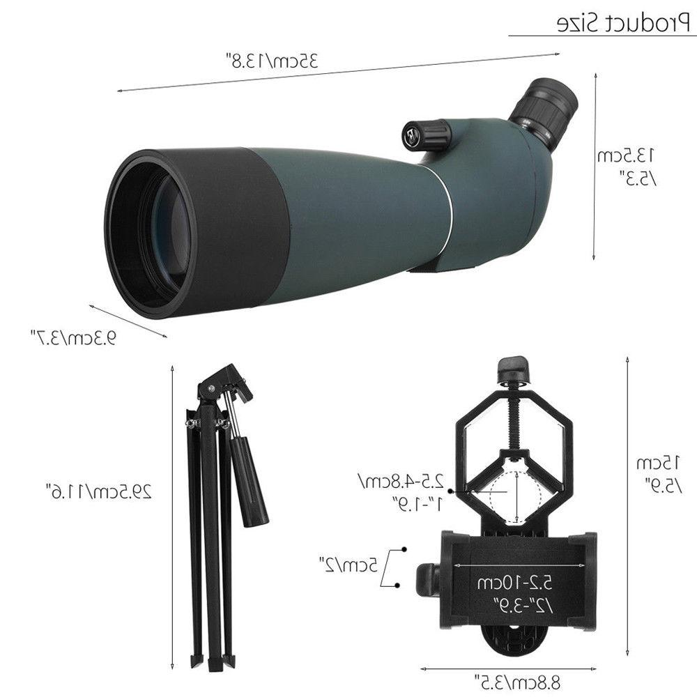 Zoom 25-75X70 Angled Scope Astronomical Waterproof W/ Tripod