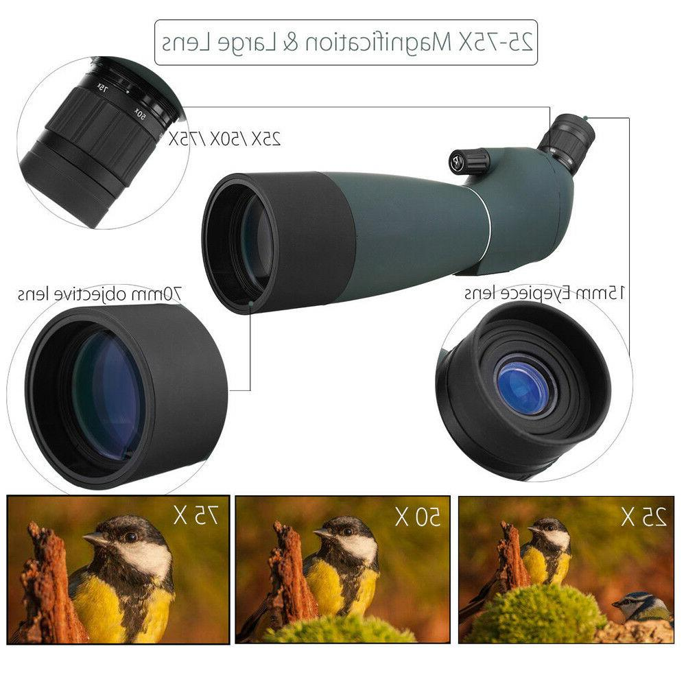 Zoom 25-75X70 Scope W/