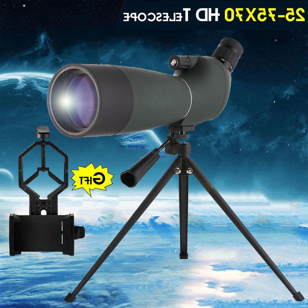 zoom 25 75x70 angled spotting scope astronomical