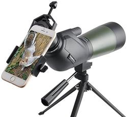 Gosky 15-45X 60 Porro Prism Spotting Scope - Waterproof Spot