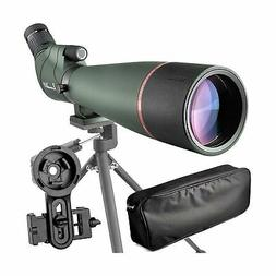 20-60X 80 Prism Spotting Scope- Waterproof Scope for Birdwat