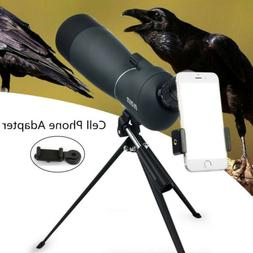 Spotting Scope 25-75X70 Telescope With Tripod&Phone Adapter