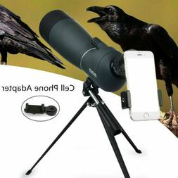 25-75X70 Spotting Scope Telescope With Tripod&Phone Adapter