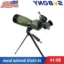 Spotting Scope SVBONY SV14 25-75x70mm Water-Resistant 45° B