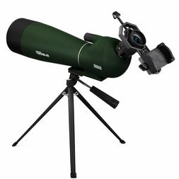 Spotting Scope Telescope 20-60x80mm Bird Scopes for Shooting