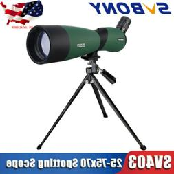 SVBONY Spotting Scope Telescope Zoom 25-75x70mm Fully Multi