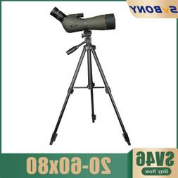 Spotting Scopes SVBONY SV46 20-60x80 Bak4 Zoom FMC Spotting