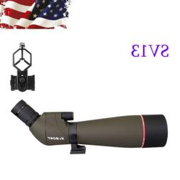 SVBONY SV13 20-60x80mm Bk7 Zoom Spotting Scope FMC Waterproo
