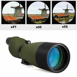 SV17 Waterproof 25-75x70mm Straight Spotting Scopes for Targ