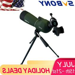 SVBONY SV28 20-60x60 BAK4 Multi-Coated Telescope Spotting Sc