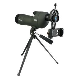 SVBONY SV28 20-60x60 Straight Spotting Scopes+Tripod&Phone A
