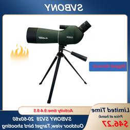 SVBONY SV28 20-60x60mm 5m Angled Zoom Spotting Scopes IP65 W