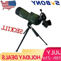 SVBONY SV28 20-60x60mm Zoom Spotting Scopes Waterproof +Trip