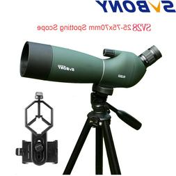Spotting Scope Telescope SVBONY SV28 25-75x70mm Angled Zoom