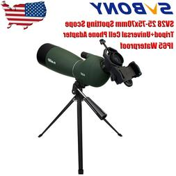 SVBONY SV28 25-75x70mm Angled Zoom Spotting Scope Telescopes