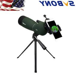 SVBONY SV28 Angled 25-75x70mm Zoom Spotting Scope IP65+Cell