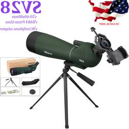 "SVBONY SV28 25-75x70Spotting Scope+SV102 49""Travel Tripod+Ph"