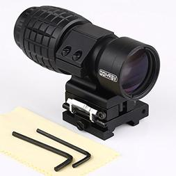 AmandaK® Tactical 3X Magnifier Scope Sight with Flip To Sid