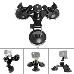 Fantaseal Triple Cup DSLR Camera Suction Mount w/Ball Head f