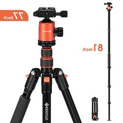 Geekoto Tripod, Camera Tripod for DSLR, Compact 77'' Alu