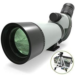 FEEMIC Upgrade 20-60x60 Waterproof Spotting Scope with Tripo