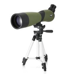 US 20x70 Angled Zoom Spotting Scope Waterproof w/ Tripod for