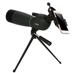 ANCHEER 20-60 x 70 Spotting Scope Waterproof for Hunting, Ta