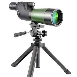 Gosky 20-60X60 Waterproof Spotting Scope- Porro Prism Spotti