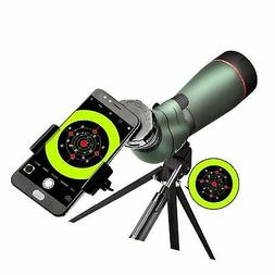 landove 20-60X 65 Waterproof Spotting Scope- Prism Scope for