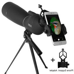 Zoom 25-75X70 Angled Spotting Scope Optical Prism Monocular