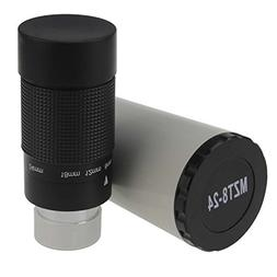 "Astromania 1.25"" 8-24mm Zoom Eyepiece for Telescope with T-T"