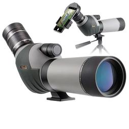 Landove 20-60x62 Zoom Spotting Scope - HD 24mm BAK4 Angled B